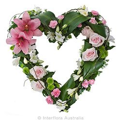 Pink Heart Wreath