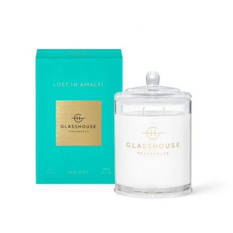 Lost in Amalfi Glasshouse Candle 380gm