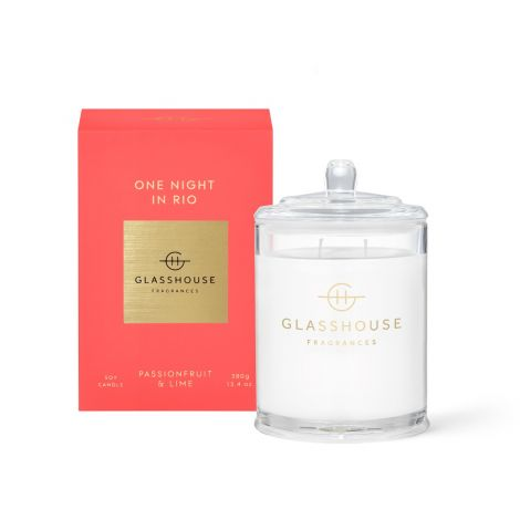 One Night in Rio Glasshouse Candle 380g