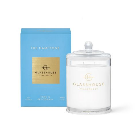 The Hamptons Glasshouse candle 380g